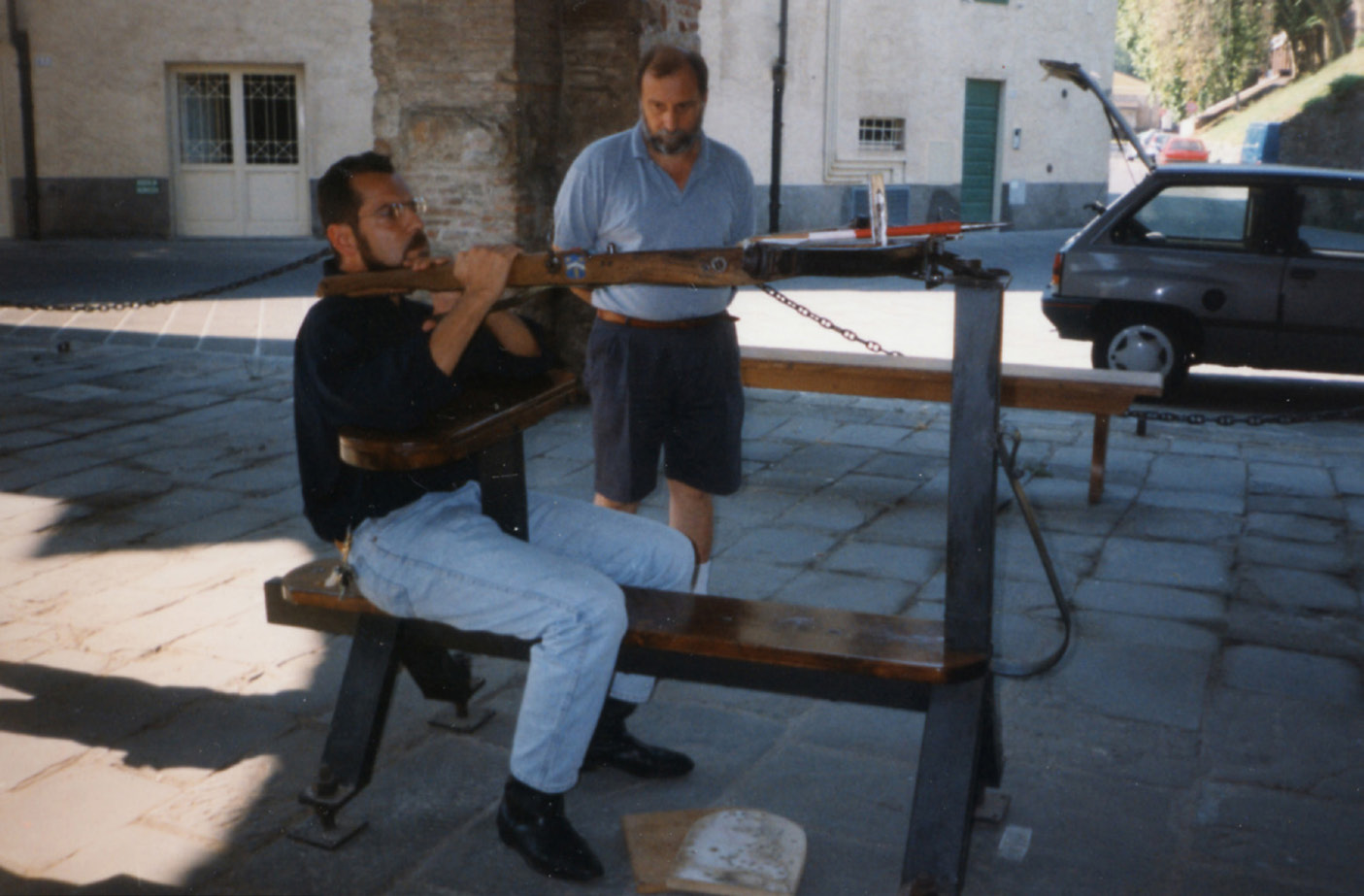 giannoni bruno e mario benassai a lucca nel 1998