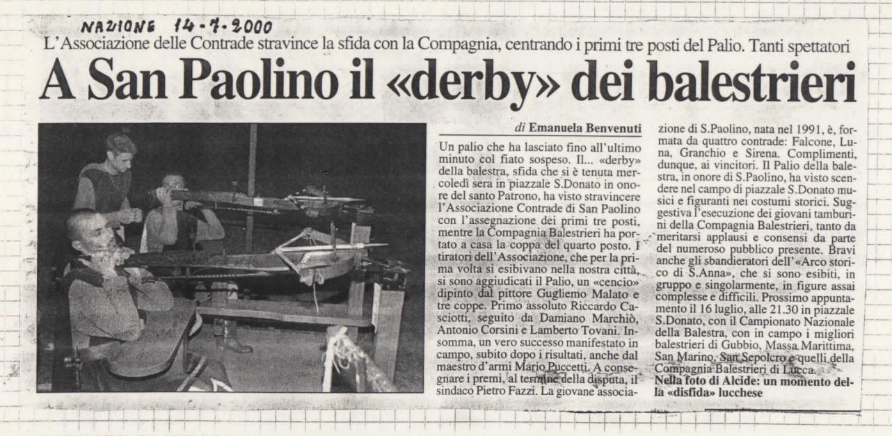 palio san paolino 2000